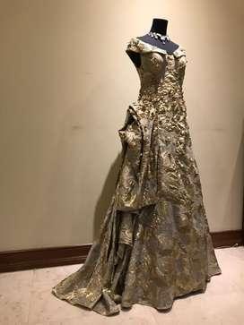 Designer dress by Cynthia Tan