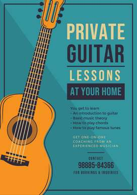 PRIVATE GUITAR CLASSES AT YOUR HOME