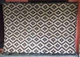 Anyaman gedek motif bambu
