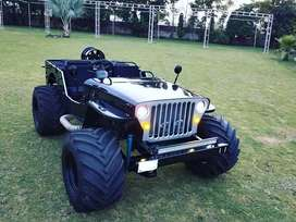 Willys open type modified Jeeps
