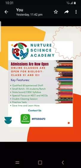 Nurture Science Academy- Biology Classes