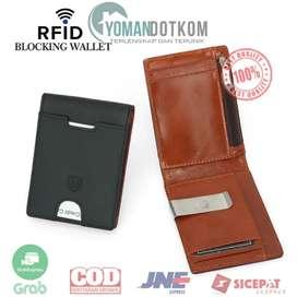 YP-211 BUBM Dompet Anti RFID Bahan Kulit Slim Design