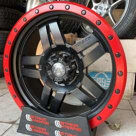 Velg 20 BEADLOCK RED 6Hole Pajero sport Fortuner Triton Hilux dll