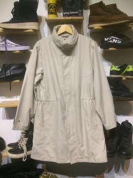 Long Coat Jaket Uniqlo with hidden hoodie
