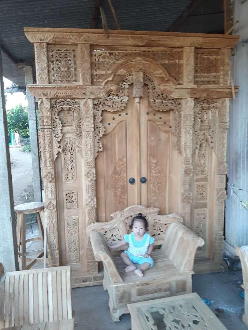 cuci gudang pintu gebyok gapuro jendela rumah masjid musholla supri