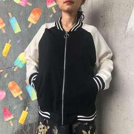Glory jacket black & white (happy thrifthing)