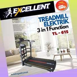 treadmill elektrik TL-615 G-49 alat olahraga lari