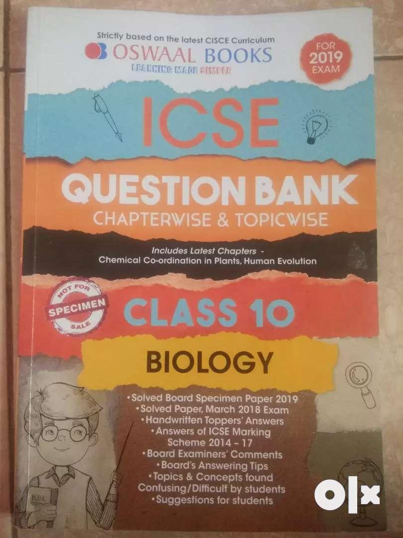 ICSE question bank of biology (Oswal book) 0