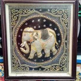 Hiasan dinding motif Gajah thailand