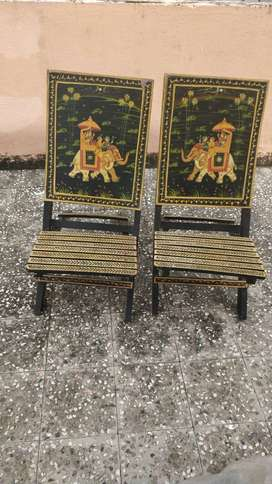Hand painted wooden decorative chairs for sale