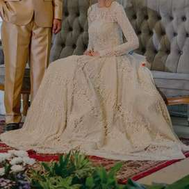 Wedding Gown Gold Full Payet - Size S/M