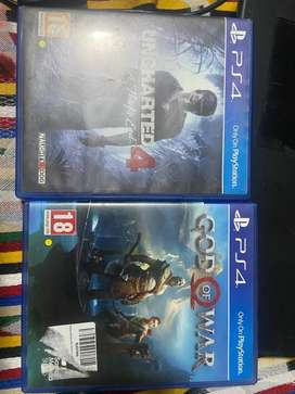 Ps4 god of war and uncharted 4