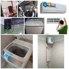 Servis Mesin Cuci # AC ruang # water heater.isi freon, bnkar- pasang