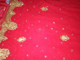 Red Saree for functions/parties