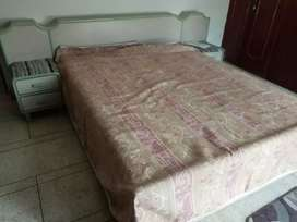 King size bed with side tables