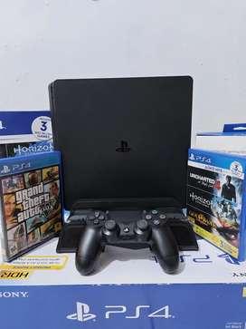PS4 SLIM 500GB FREE KASET DAN COOLING STAND