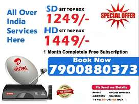 New Airtel DTH Dishtv HD SD Box Airteltv All over india offer @1249