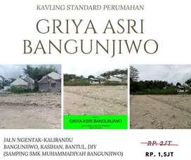 Tanah Kavling perumahan di bangunjiwo Kasihan bantul 3 Unit Terakhir