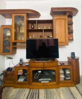 teakwood TV unit