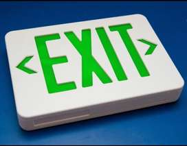 exit sign and light