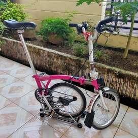Sepeda BROMPTON M6R warna Pink 2018