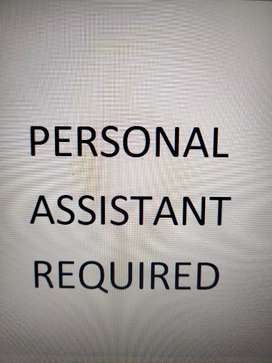 Personal Assistant required with good English and computer skills