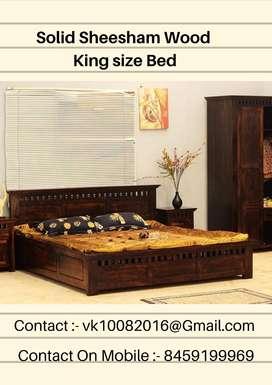 Beautiful Solid Sheesham Wood Kingsize Bed