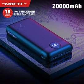 Powerbank MOFIT M29 20000mAh Fast Charge 2.4A Real Capacity