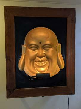 Optical illusion Buddha frame