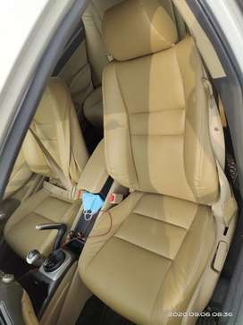 honda civic car white color good contidion leather sheat cover .