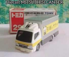 Diecast MITSUBISHI CANTER koleksi antik unik langka kondisi bagus