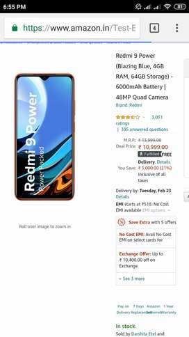 Redmi 9 Power 6GB 64GB Unboxed For Sale
