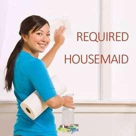 Need house maid - Female - Fule Time