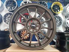VELG HSR RACING YOKOTE R17X75 H8X100-114 SMBRZ