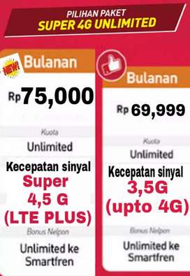 Paket data smartfren unlimited 4G plus anti lemot smartfren data murah