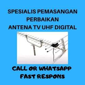 Agen terdekat pasang servis antena tv box hitam