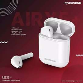 Riversong branded Airpods Air X5+ wireless Bluetooth 1 year warranty