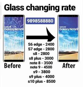 Samsung glass changing rate.
