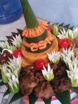 Nasi kotak nasi tumpeng kue snack semuuuaa bissas dan mampuu