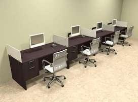 New office workstation dark brown color