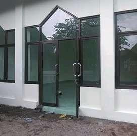 Kusen pintu aluminium kaca masjid dan kantor