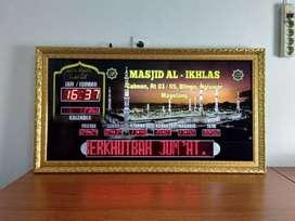 Jual Jam Masjid Digital Running Teks Kualitas Kirim Masjid Jepara