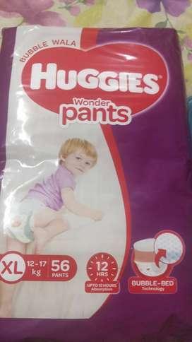 New Huggies diaper pack 56 xl 12-17 kg