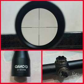 telescope riflescope tembak Gamo 3-9x40 tanpa lampu