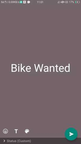 I want a bike(ns, duke, RS,  cbr150r)