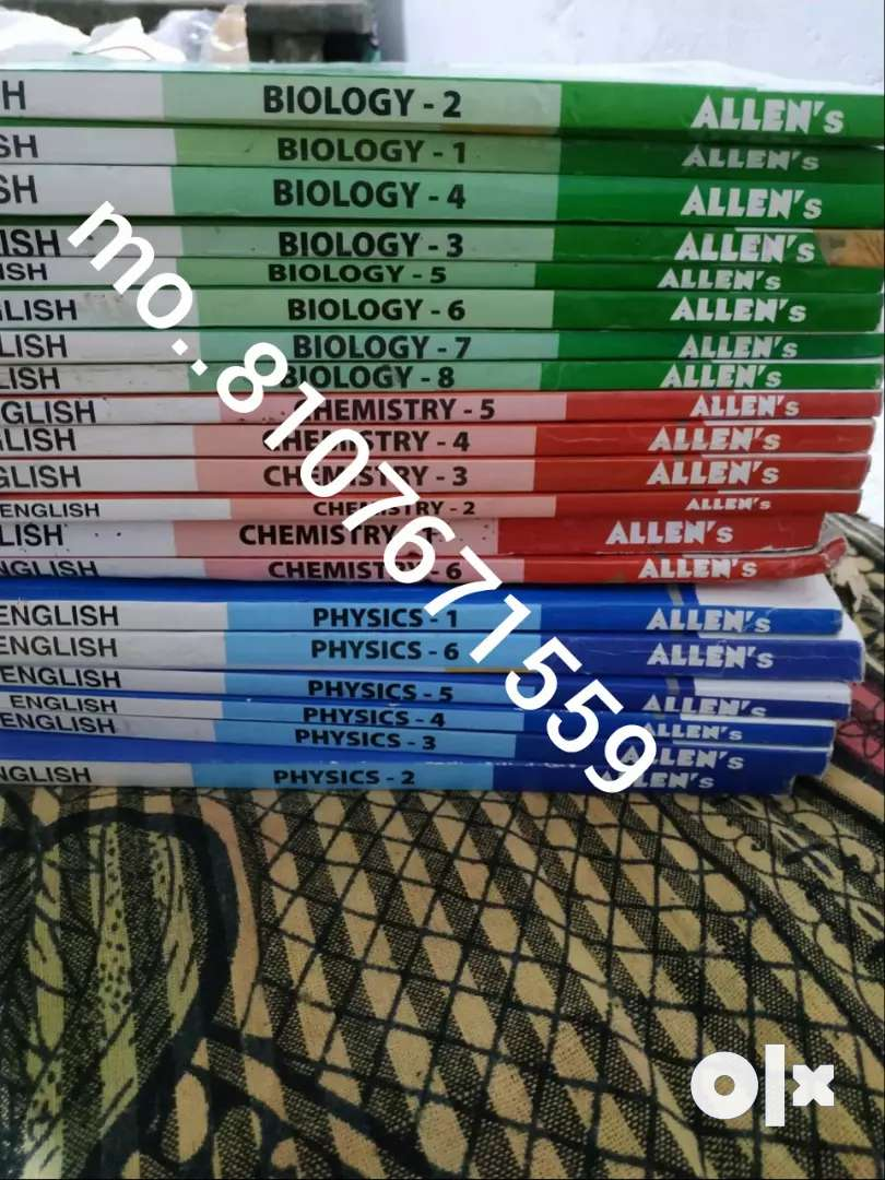 allen kota (40Book) NEET /AIIMS/jee BOOK 11th and 12th bothall sub pcb 0