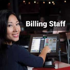 Billing Staff (Fe) required for a Restaurant