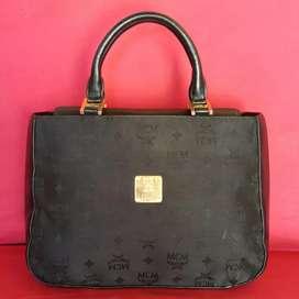 Tas eks Mcm handbag knvas mix klit asli ad no seri