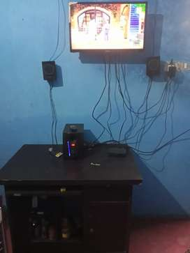 Intex tv and home theatre and computer table