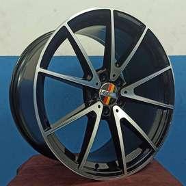 Velg mobil ring 19 tipe ROSTOCK SLS02 warna black polish velg Mercy